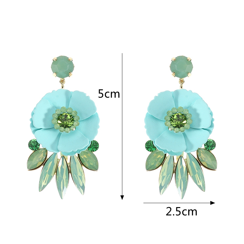 JASSY® Flower Rhinestone Ear Drop Earring