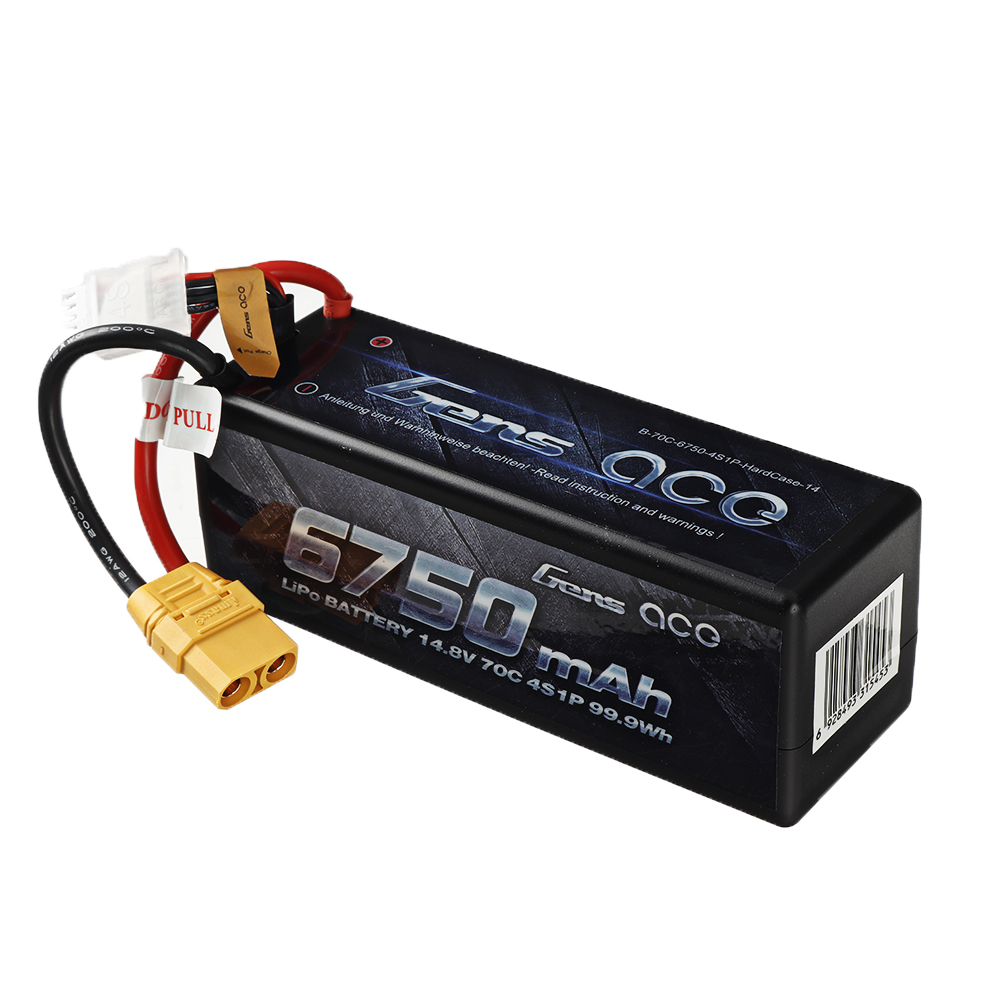 Gens ace 14.8V 6750mAh 70C 4S Lipo Battery XT90 Plug for RC Racing Drone