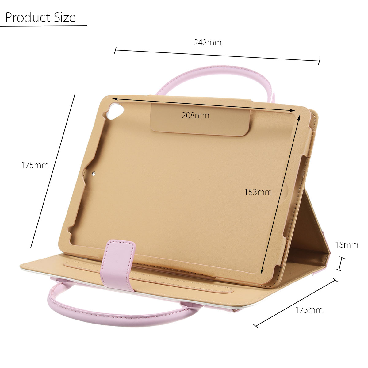 Portable Leather Handbag Magnetic Smart Stand Holder Case Cover For iPad Air 1/2