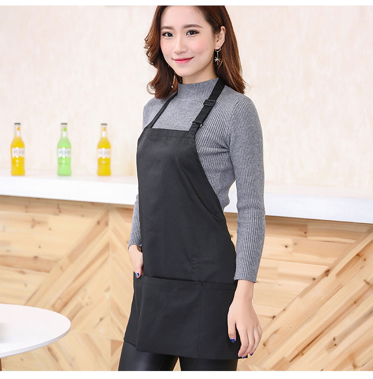 Honana KT-AP2 Oil-proof Adjustable Bib Apron Woman Adult Kitchen Cooking Apron With 2 Pockets