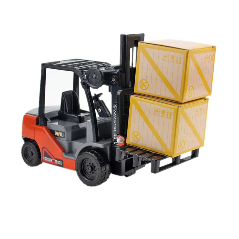 Small Internal Combustion Lifting Forklift Truck Car Model Toys For Children