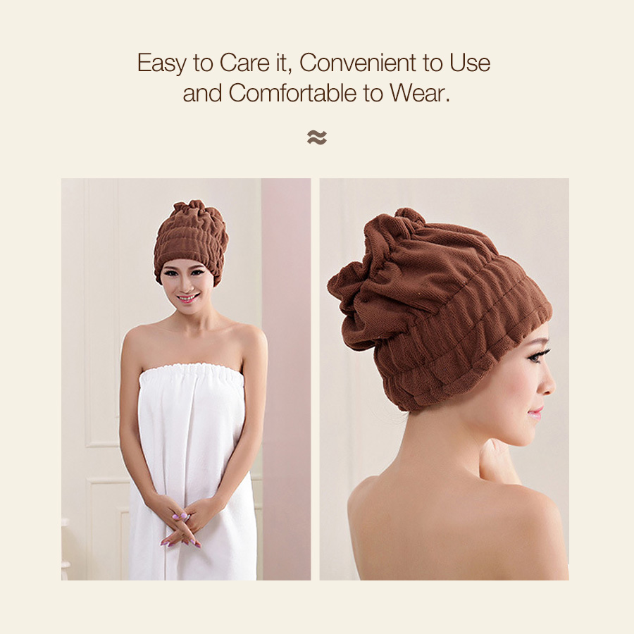 KCASA KC-OL603 Women Magic Fast Hair Drying Towel Head Wrap Absorbent Makeup Cosmetics Cap Bath Tool