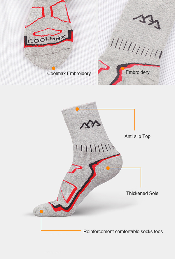 Mens Thick Warm High Tube Hiking Outdoor Breathable Striped Printing Sport Winter Socks