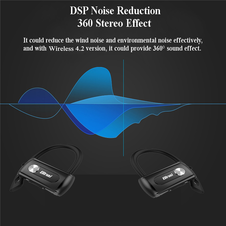 [Truly Wireless] Binai T88 bluetooth Earphone Stereo Waterproof DSP Noise Reduction Voice Prompt