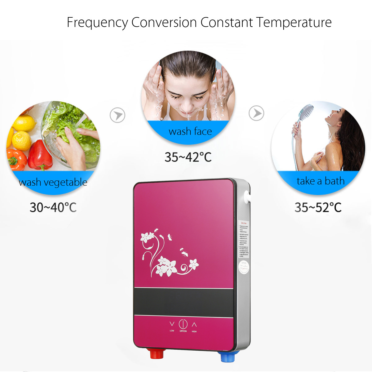 6500W 220V Instant Electric Water Heater Water Heating Machine Tools