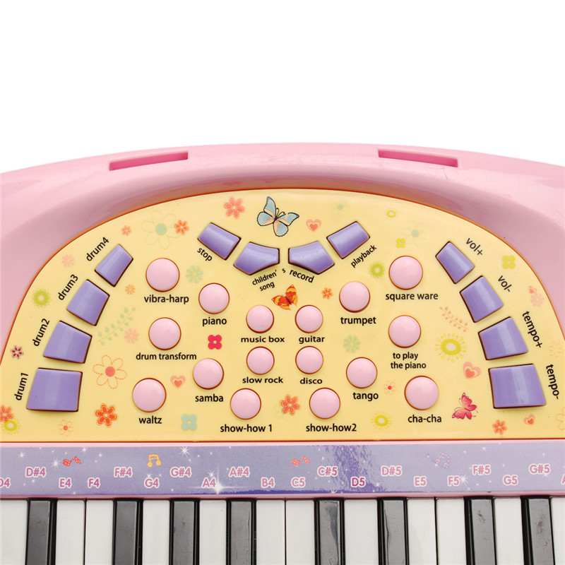 37 Key Kids Electronic Keyboard Piano Multi Function Piano with Microphone Early Childhood Music Toy