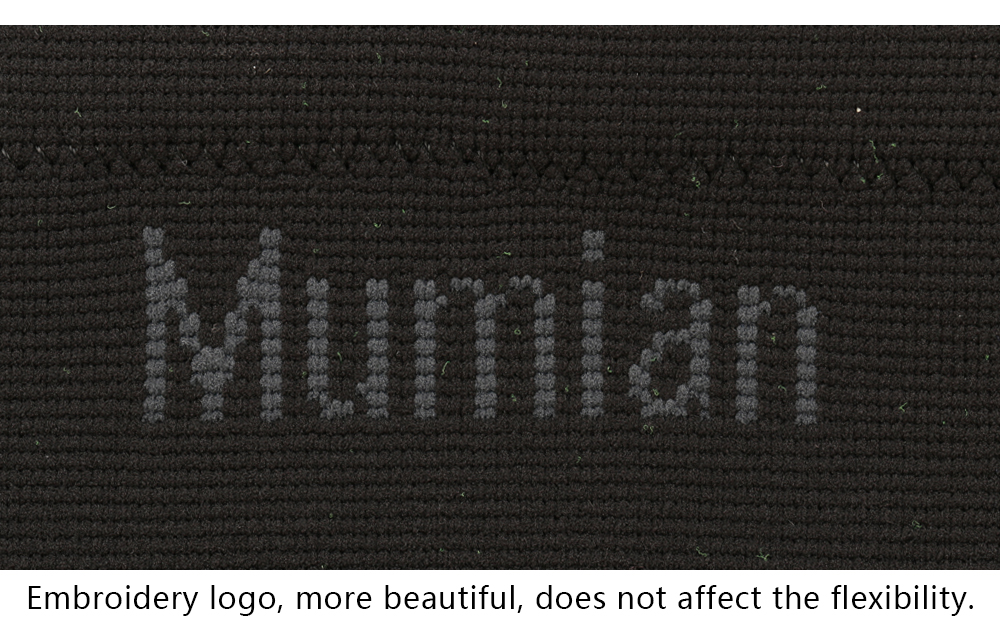 Mumian A08 Silicone Slip-Resistant Knitting Sports Knee Pad Sleeve Brace - 1PC