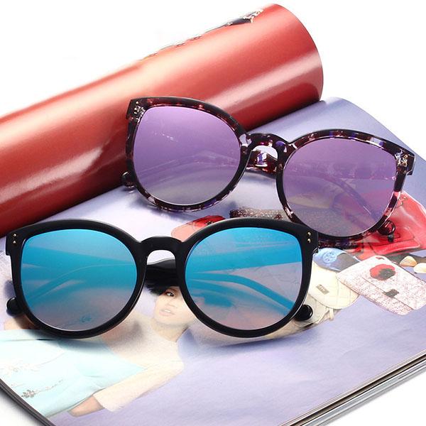 UV400 Protection Women Retro Cat Eye Sun Glassess Casual Big Frame Eyewear