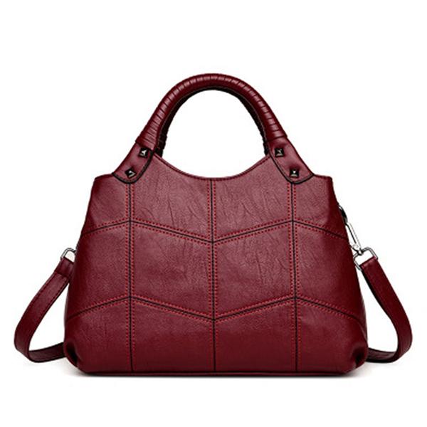 Women Vintage Soft PU Leather Handbag