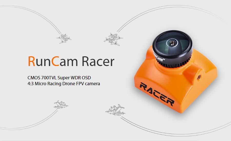 RunCam Racer 700TVL Super WDR 4:3/Widescreen OSD Mini FPV Camera PAL With DVR01 Mini FPV DVR Module