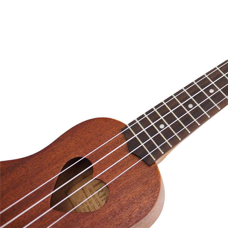 IRIN 17 Inch 4 Strings Sapele Spruce Panel Ukulele Heat-shaped Sound Hole Musical Instruments