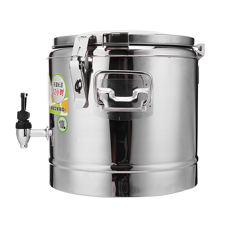 10/20L Stainless Steel Milk Water Bucket Wine Beer Thermal Insulate Double Walled Pail