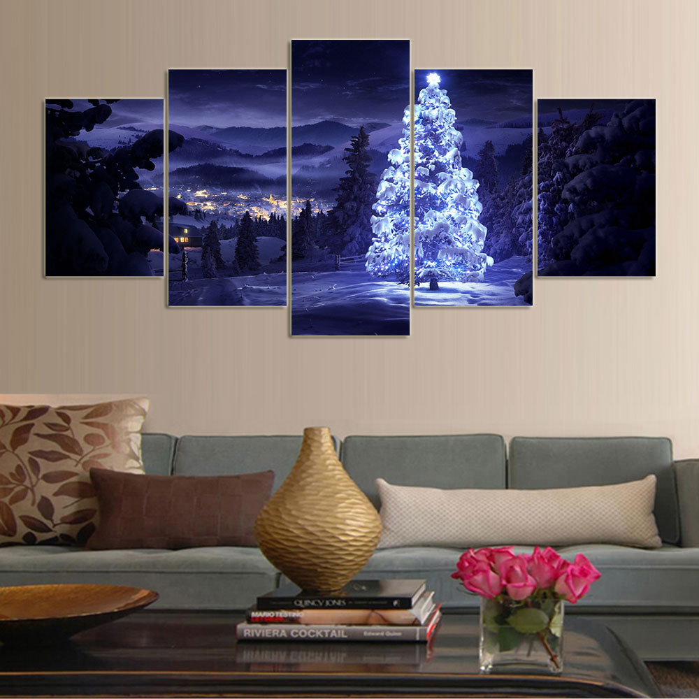 5 Cascade Wall Combination Painting Picture Home Decoration Without Frame Including Installation