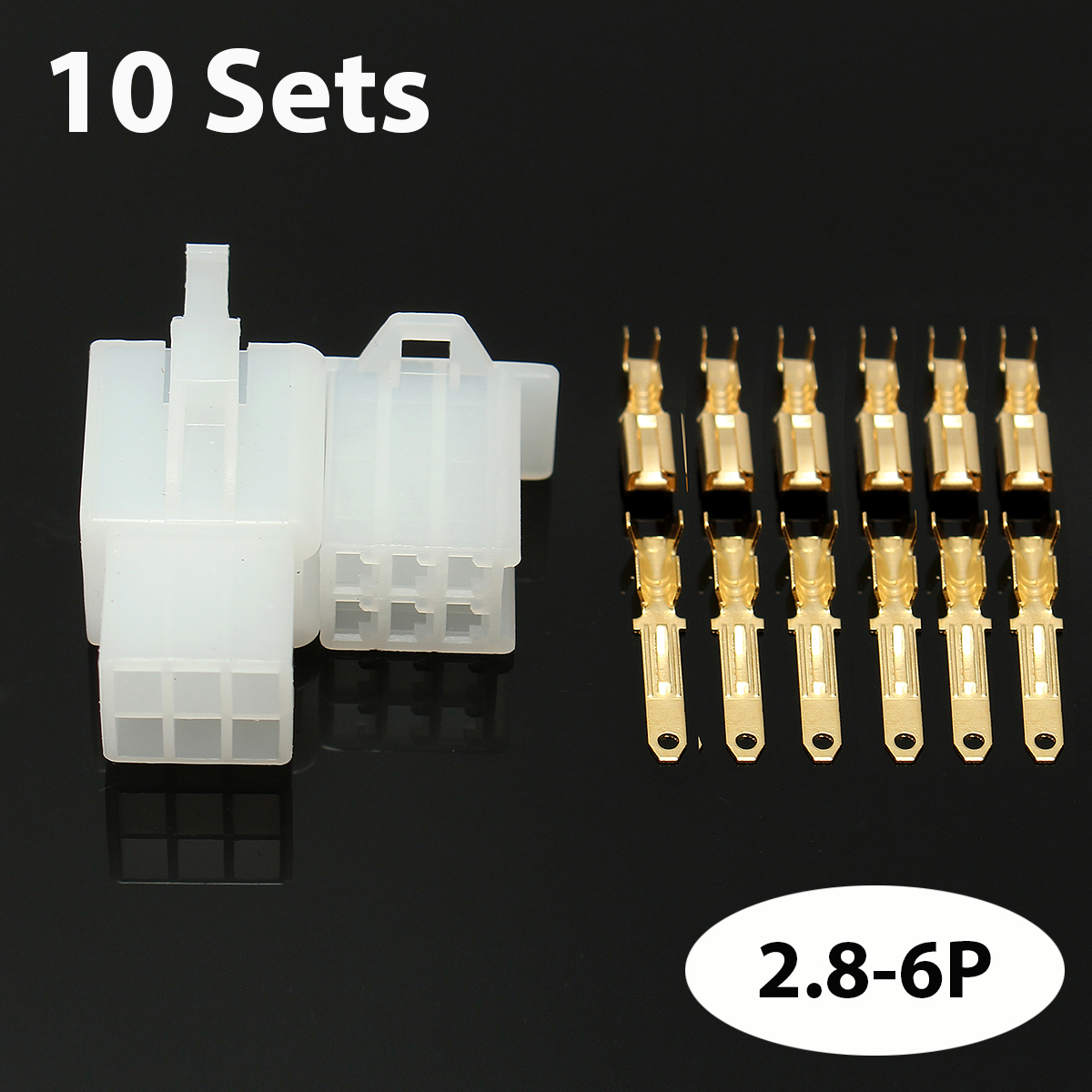 40 Sets Autos Car Motorcycle Electrical 2.8 mm 2 3 4 6 Pin Wire Connector Terminal Connectors