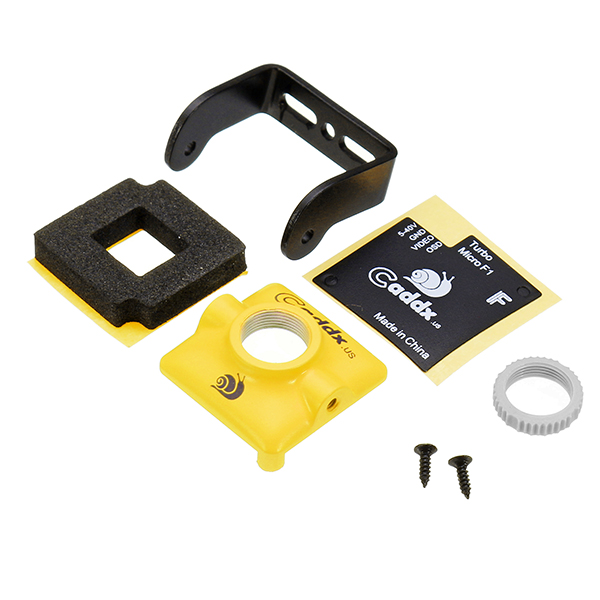 Caddx CM05 Case Set for Turbo micro SDR1 SDR2 FPV Camera With Mount Bracket Yellow/Green/Pink