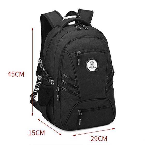 USB Men PVC Waterproof 18 Inches Laptop Backpack