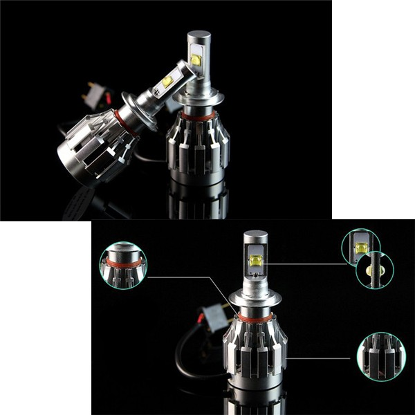 2Pcs 9004 4SMD LED Car Headlight Fog Light 80w Constant Current Canbus Free Universal
