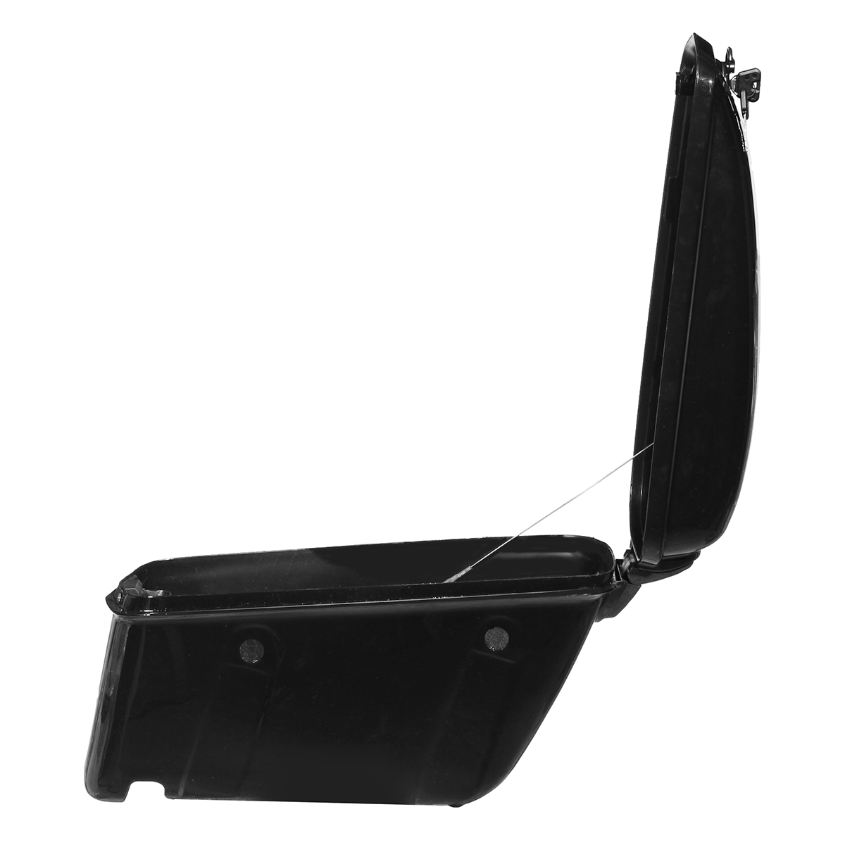 22L Black Motorcycle Side Hard Saddle Bags Saddlebags Trunk With Bracket For Honda/Harley Touring