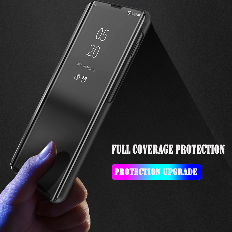 Bakeey Plating Mirror Window Shockproof Flip Full Cover Protective Case for Xiaomi Redmi 7 / Redmi Y3