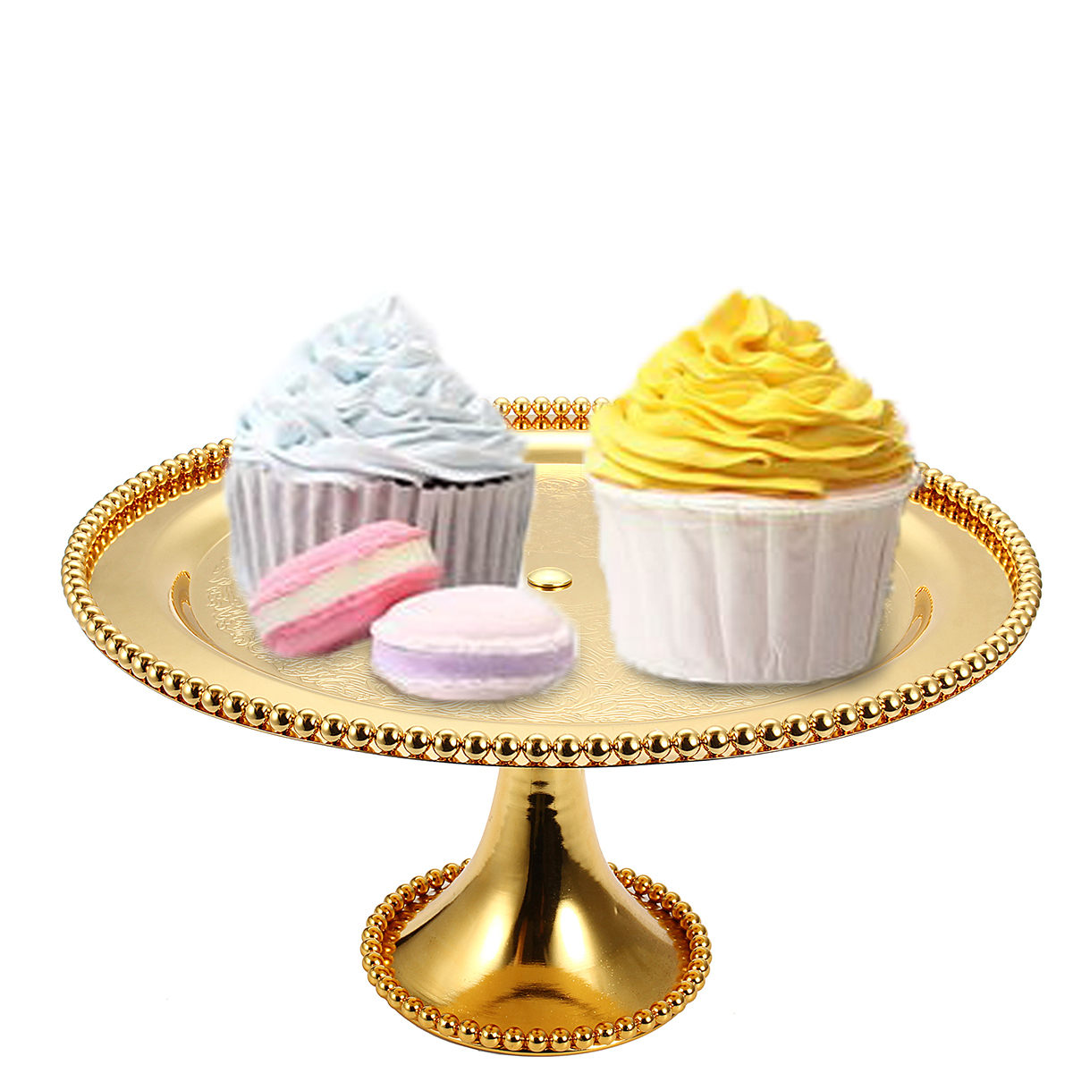 Round Cake Stand Vintage Metal Cupcake Wedding Event Party Display Tower Plate