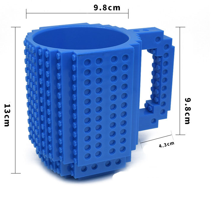 DIY Mug Coffee Building Blocks Toys Cup Creative Personality Environmental Plastic Assembly With Gift Cup