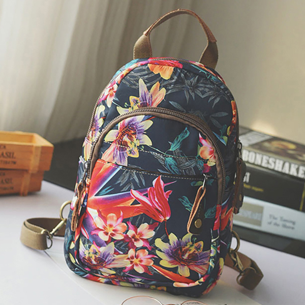 Brenice Women Floral Fashion Chest Crossbody Bag Backpack