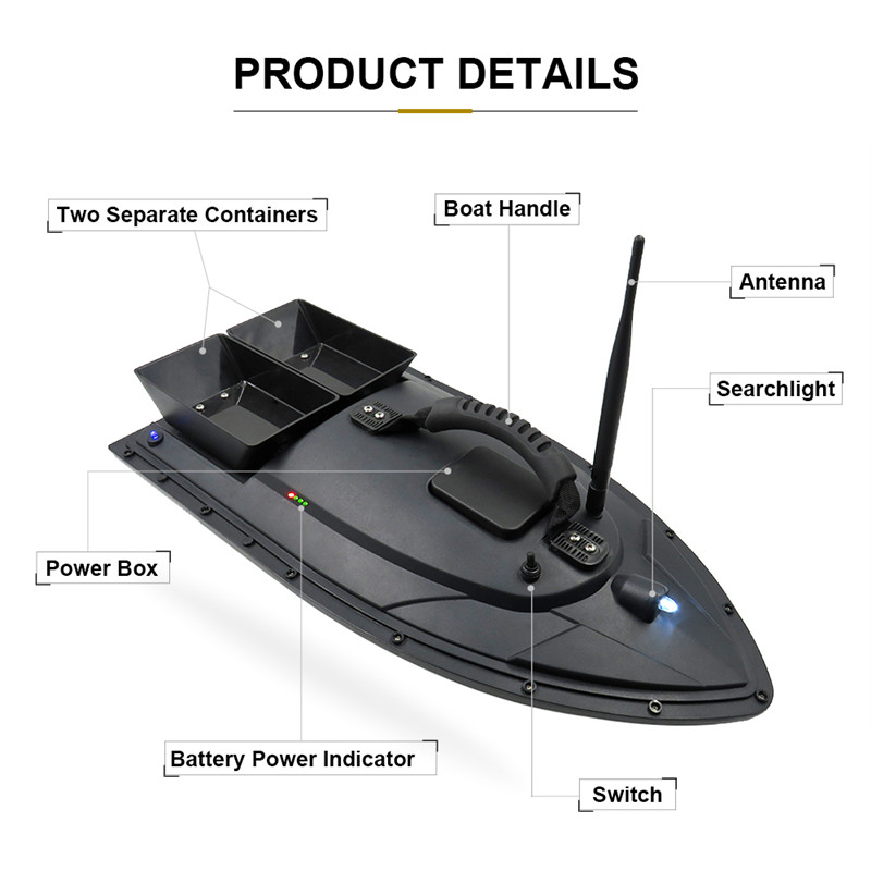 Flytec 5 Generation Electric Fishing Bait RC Boat 500M Remote Fish Finder 5.4km/h Double Motor Toys