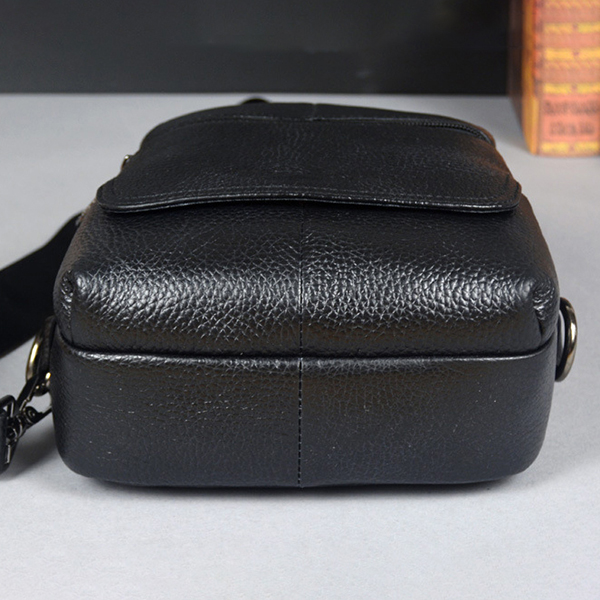 Men Genuine Leather Business Bag Retro Crossbody Bag