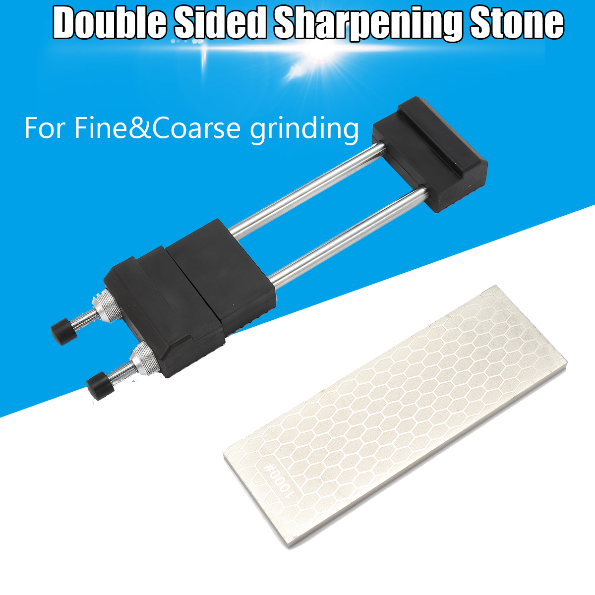 Diamond Sharpen Stone Whetstone Sharpener Waterstone Sharpening Kit Set With 1200 Ice Bear Stone