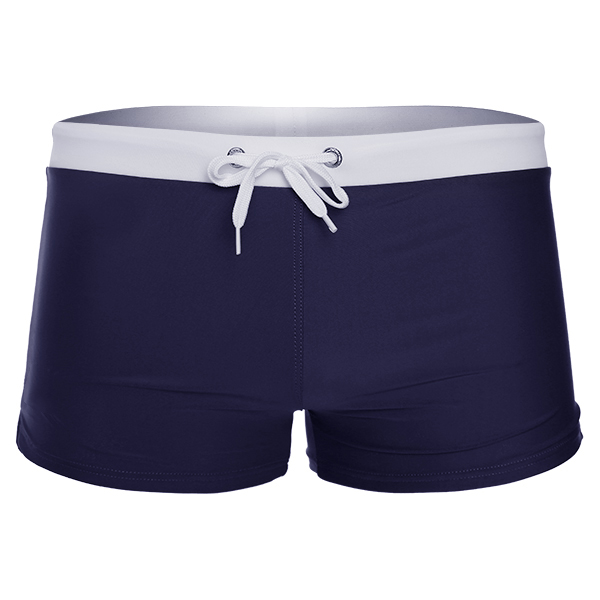 Quick Drying Drawstring Back Button Pocket Summer Beach Surf Hot Springs Swim Trunks for Men