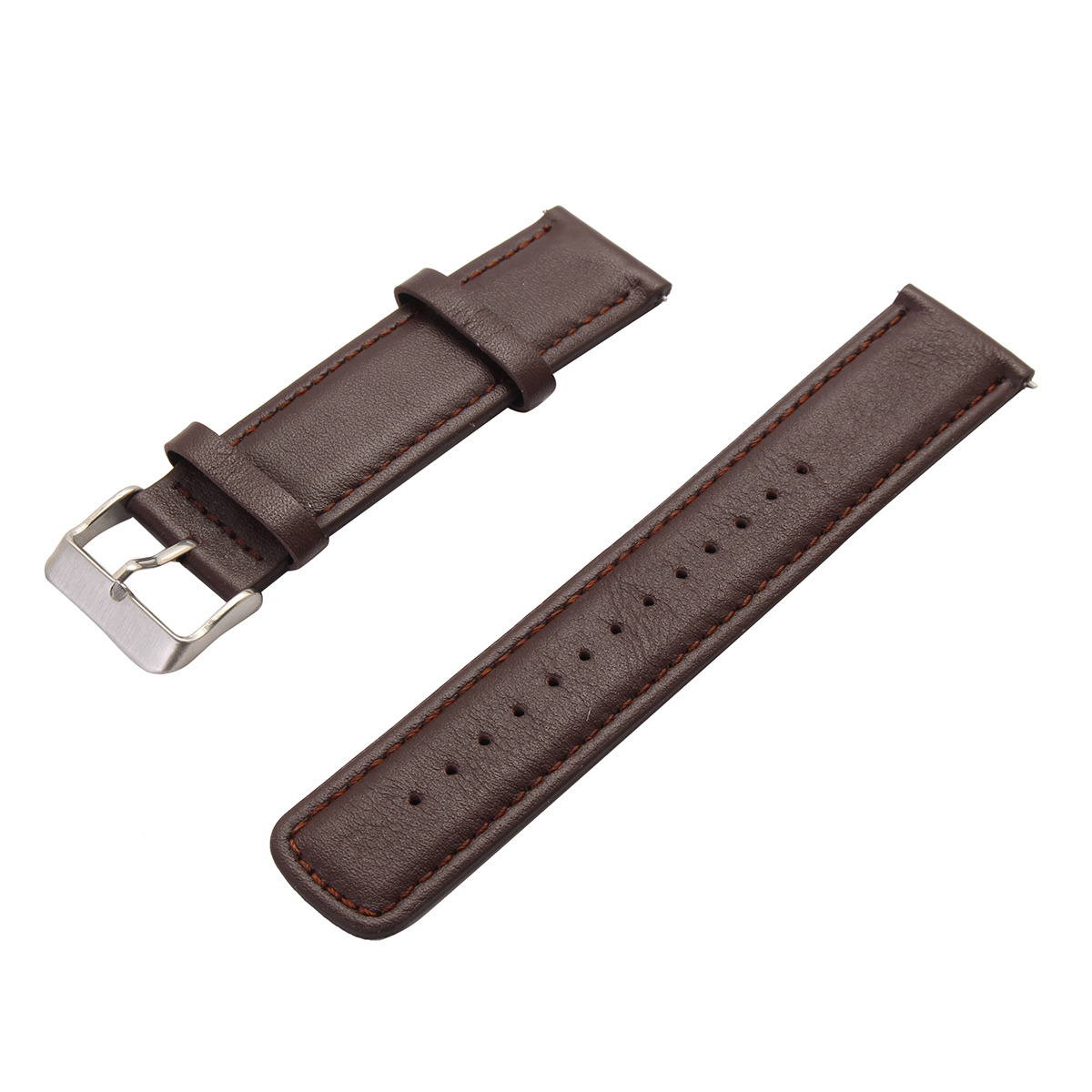 22mm Replaceable Leather Watch Band Strap Bracelet Time Steel for Samsung Gear 2/S2