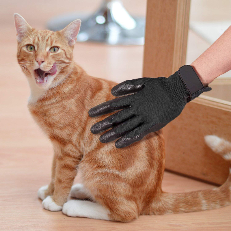 1 Pair Pet Grooming Gloves Dog Cat Hair Cleaning Brush Rubber Massage Pet Gloves For Cat Dog Animals