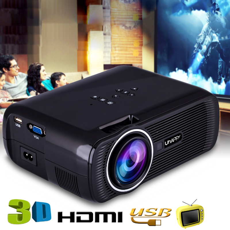 Uhappy U80 Pro Android 1500 Lumens Mini 3D LED Projector 1080P HD Multimedia Home Theater Cinema