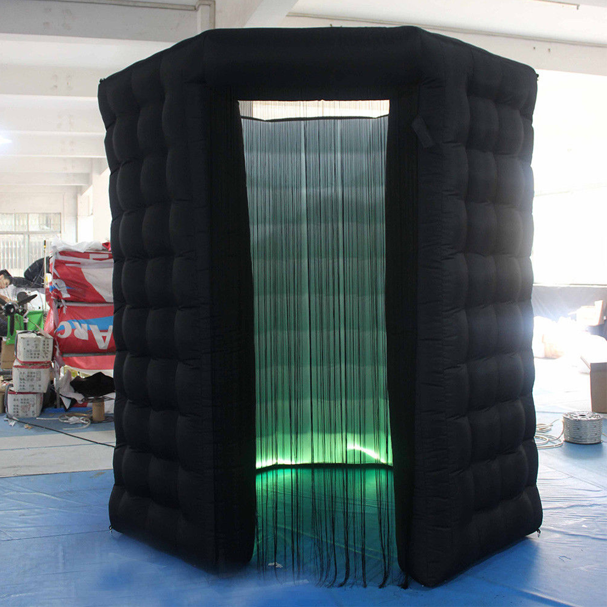 2.8x2.8x2.8M Single Door Octagon Inflatable LED Photo Shooting Tent