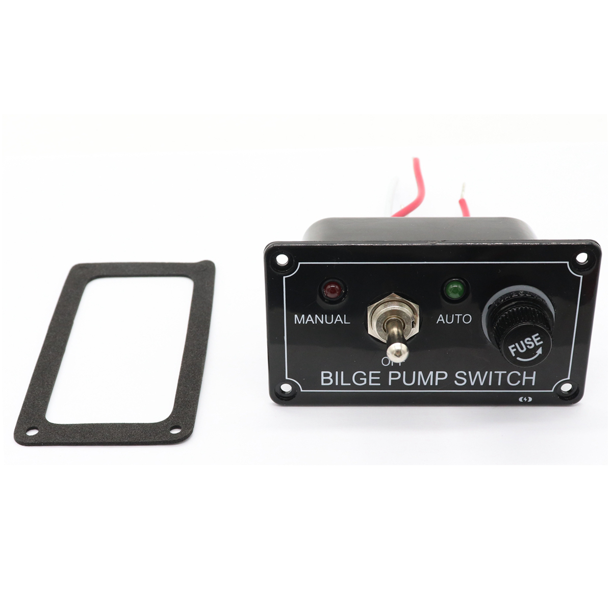 12V LED Indicator Bilge Pump Switch Panel Housing 3 Way Panel Manual / Off / Auto RV Marine Boat