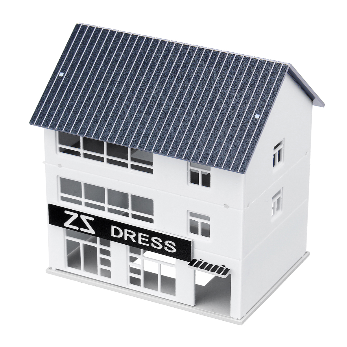 1/150 Outland Building Model N Scale Gauge Scene Story Dress Store Modern House