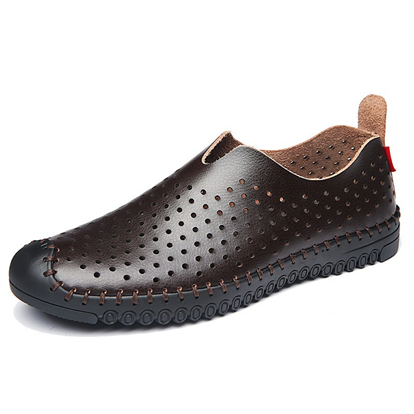 Banggood Shoes Men Breathable Hollow Outs Slip On Oxfords