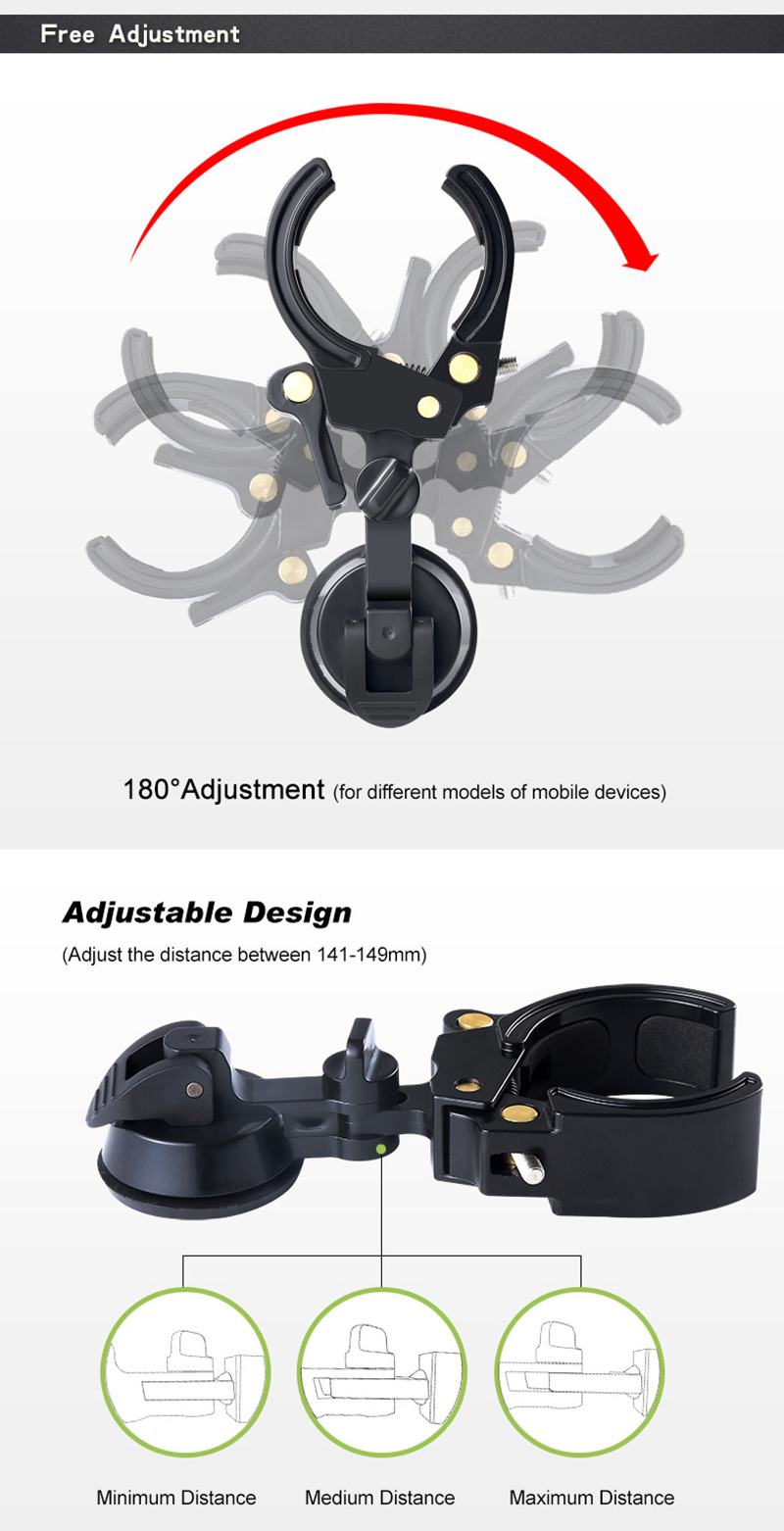 Bakeey Universal Digital Camera Rubber Suction Mount Phone Holder For Spotting Scope Monocular