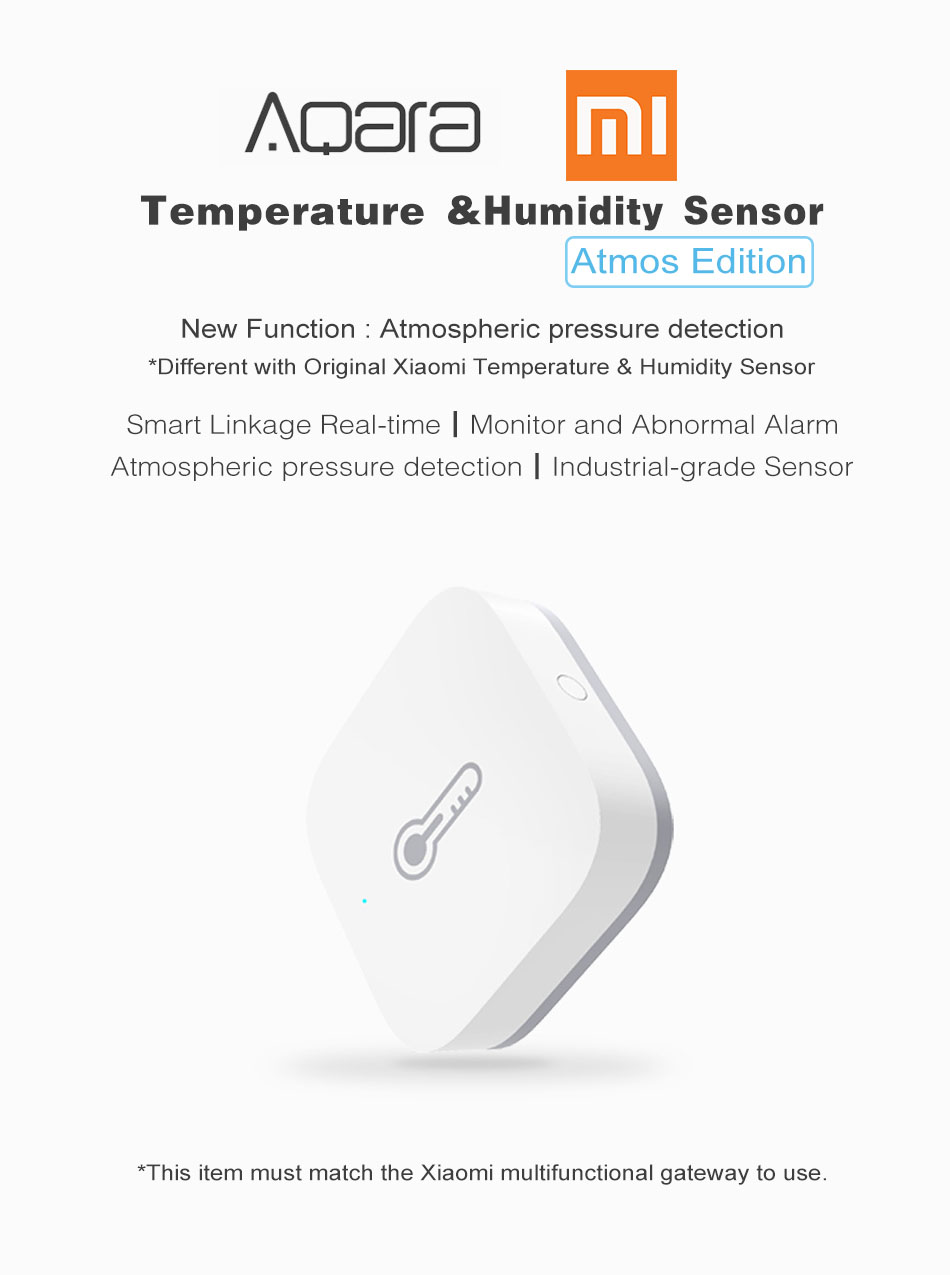 Atmos Version Original Aqara Smart Home Temperature & Humidity Sensor Thermometer Hygrometer Digital Sensor From Xiaomi Eco-System