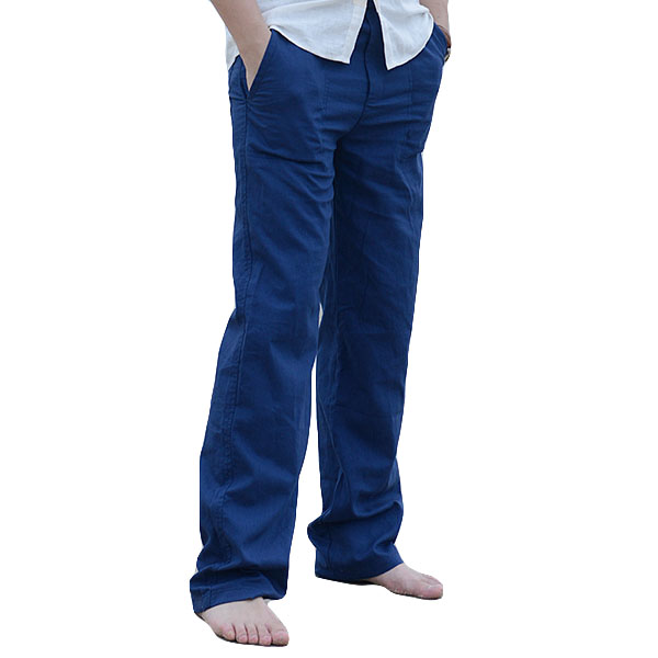 d2ac3c38892 Mens Linen Beach Pants Summer Casual Thin Loose Trousers - banggood.com -  imall.com