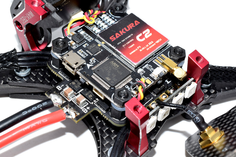 RED HARE 215mm RC FPV Racing Drone with OMVT F4 OSD BLHeli_S 35A 4in1 ESC 5.8G 48CH VTX 960H CCD CAM - Photo: 10