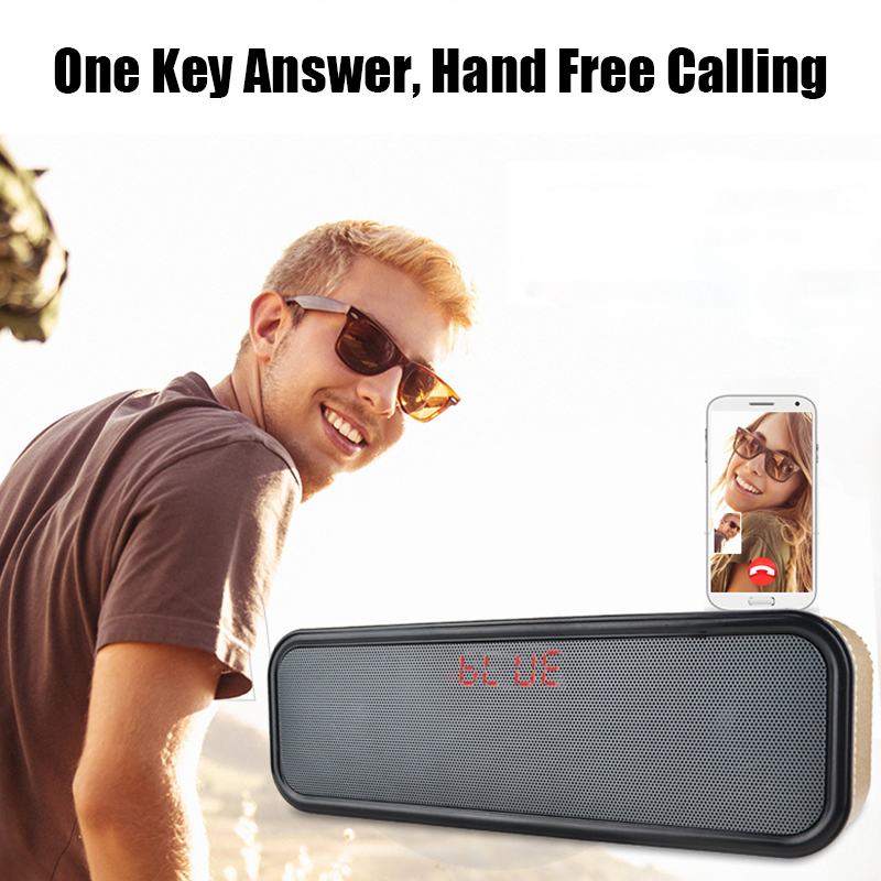 Universal Portable Wireless Dual Drivers Stereo 3.5mm Aux TF Card bluetooth Speaker with Microphone