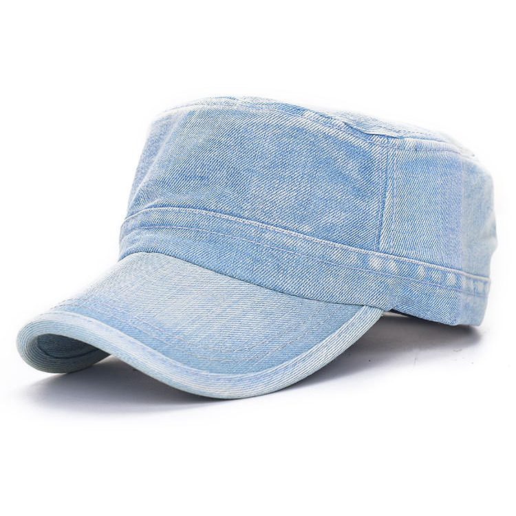 Unisex Denim Jeans Washed Adjustable Baseball Cap Flat Snapback Hat For Men Women