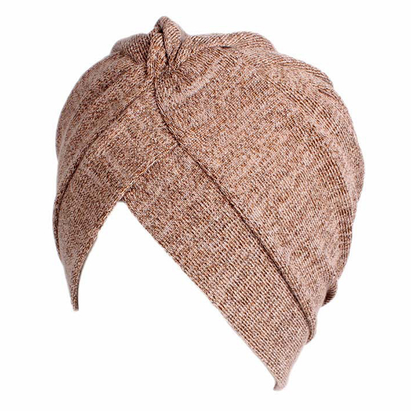Women Warm Solid Ear Protect Turban Cap