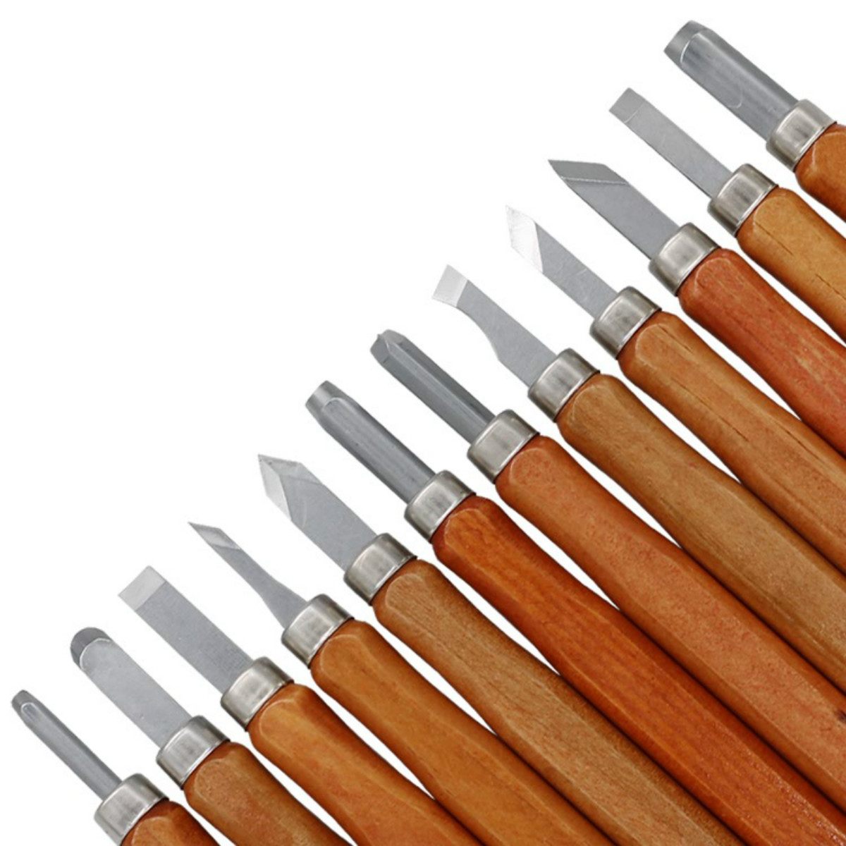 12pcs Carving Tools Hand Wood Carving Chisels Knife for Wood Working DIY Tools