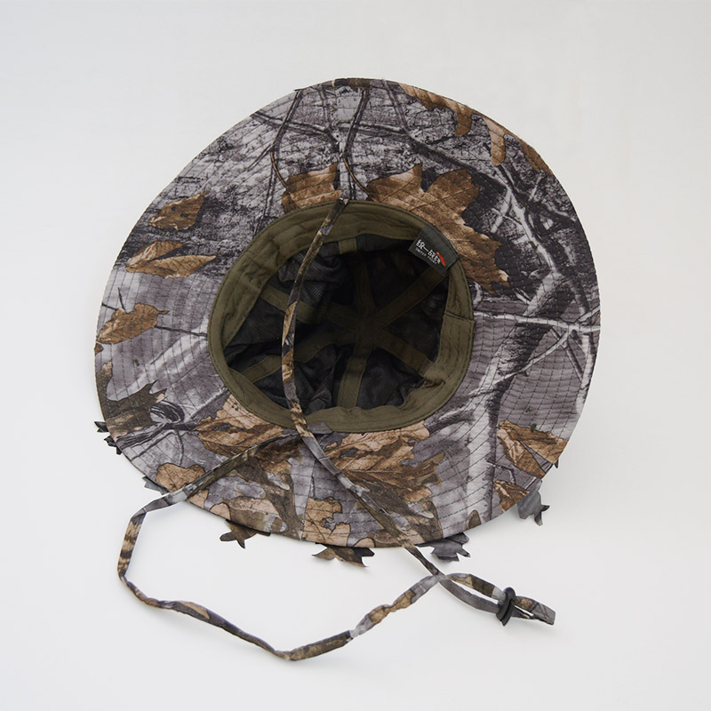 AURKTECH Hunting Outdoor Fashion Jungle Field CS Camouflage Shade Shampoo Big Fallen Leaf Cap