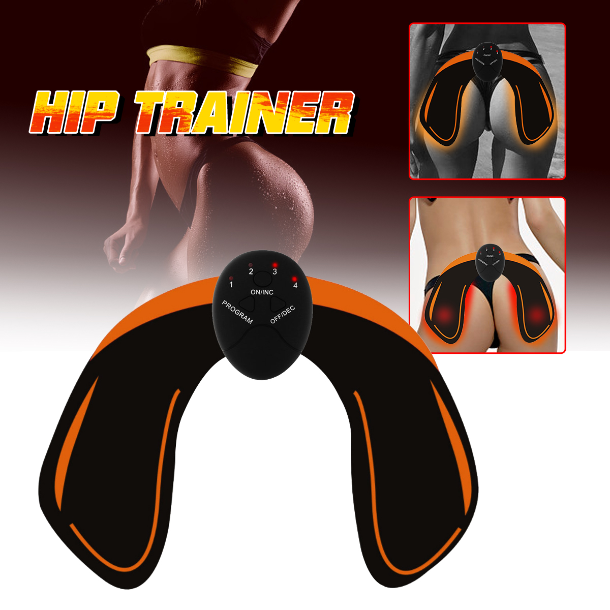 Hip Muscle Trainer Buttocks Lifting Body Beauty Machine Booster Muscle Stimulator Hip Fitness