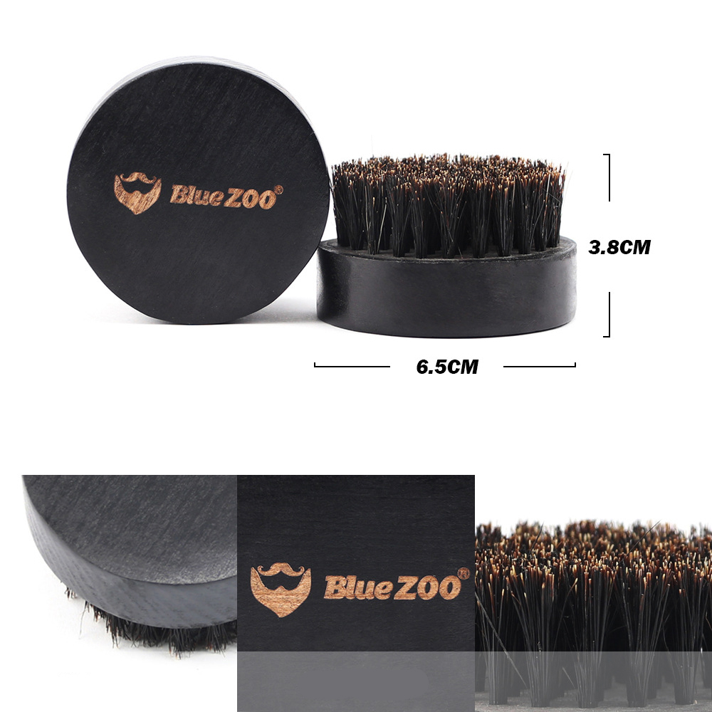 BlueZoo® 7Pcs Natural Beard Hair Styling Set Mustache Oil Wax Moisturizing Brush Comb Scissor Men