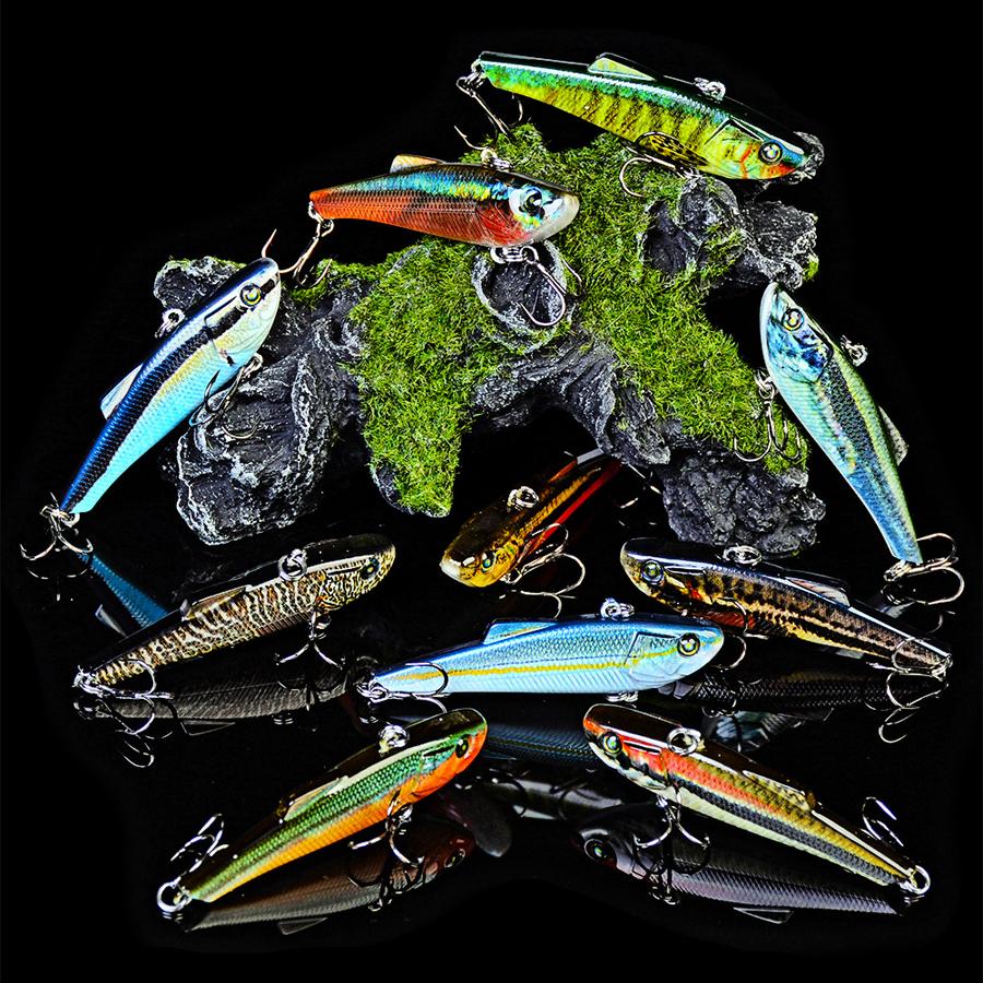 ZANLURE DW1123 10Pcs/Set 7cm 7g Hard Fishing Lure VIB Popper Crankbait Wobblers Isca Poper Pesca