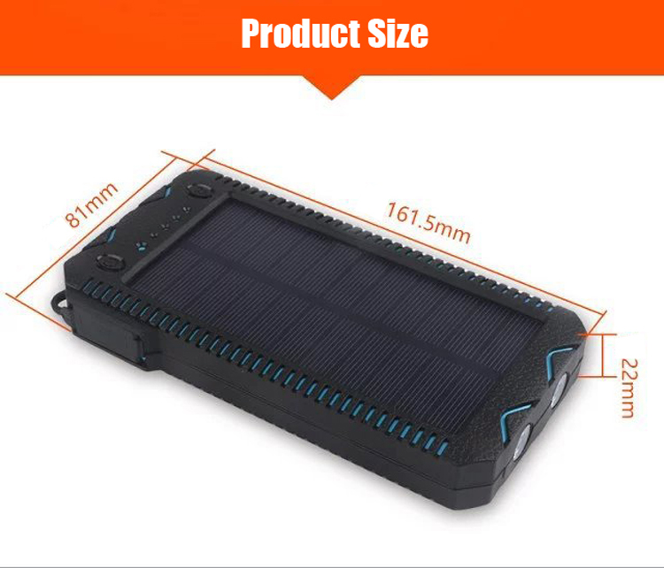 IPRee® 4 In 1 12000mAh Portable Solar Charger Panel Emergency Flashlight USB Power Bank